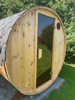 2,4 meter - Tønde sauna 5 pers. u. terrasse